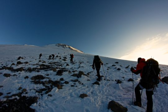 Восхождение на Эльбрус с юга на север